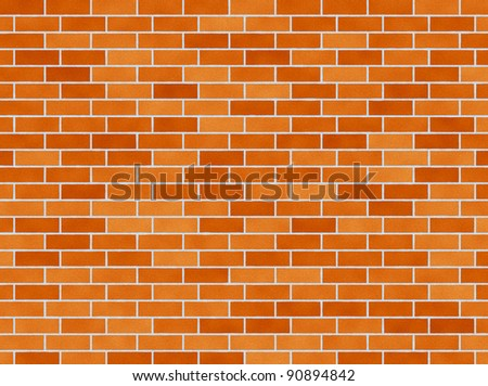 illustration of a red brick wall background