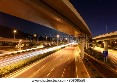 highway at night #90908558