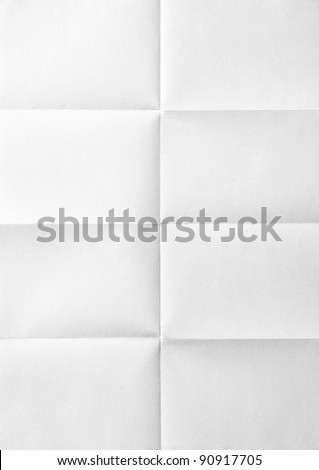 white sheet of paper folded in eight Royalty-Free Stock Photo #90917705