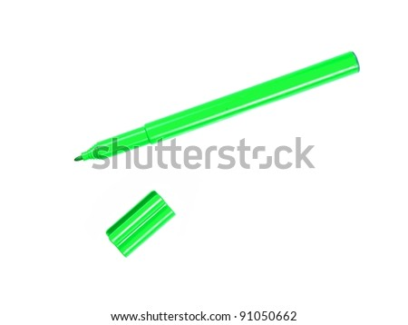 Marker pens isolated against a white background #91050662