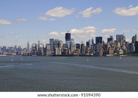 Manhattan, seen from Liberty Island, New York, USA #91094390