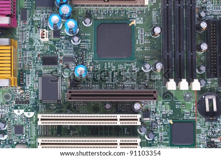 Detail of an electronic printed circuit board #91103354