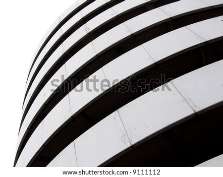 abstraction of curves for modern building (black and white) #9111112