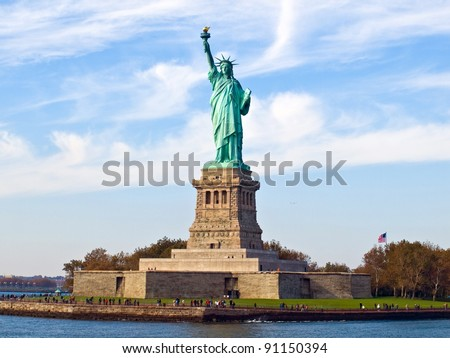 Statue of Liberty Royalty-Free Stock Photo #91150394
