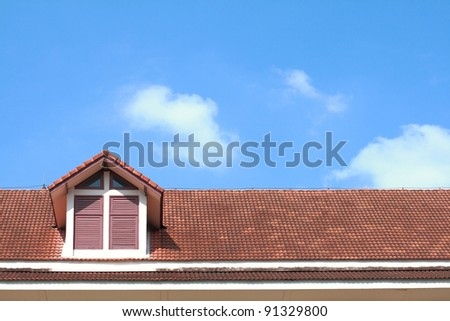 roof of house under the blue sky #91329800