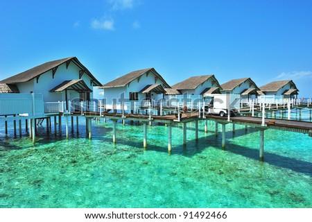 Maldive water villa - bungalows #91492466