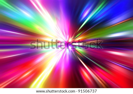 colorful  radial radiant effect