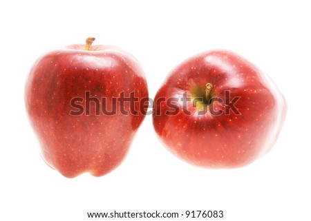 Two red apples isolated on white background #9176083