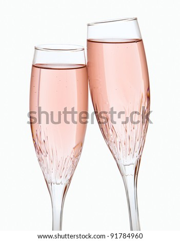 Two champagne glasses #91784960