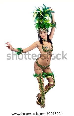 Sexy young woman in brazilian style Carnaval clothes #92015024