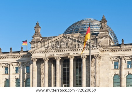 The Bundestag (Federal Parliament) at Berlin is the supreme legislative organ of the Federal Republic of Germany #92020859