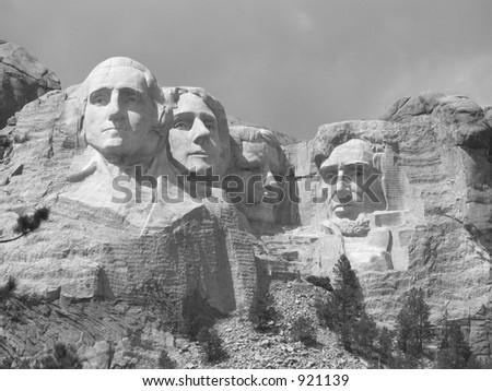 Black and white Rushmore #921139
