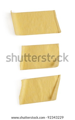 collection of various adhesive tape pieces on white background #92343229