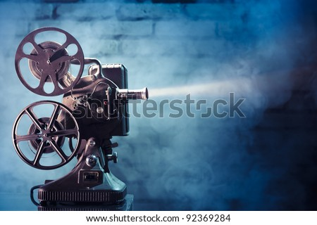 photo of an old movie projector Royalty-Free Stock Photo #92369284