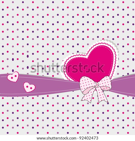 Abstract kids background with heart