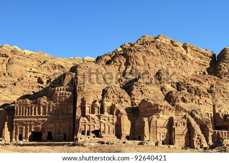Remains of an ancient temple in Petra, Jordan #92640421