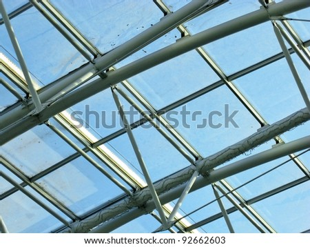 The abstract pattern of the roof of a shopping mal in Lisbon in Portugal #92662603