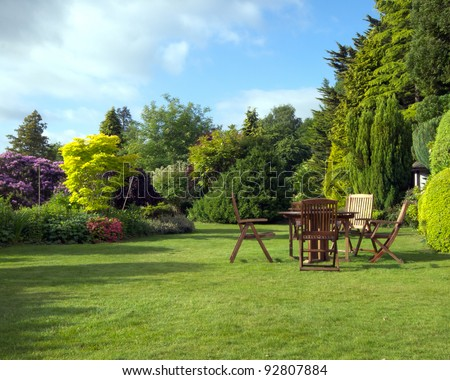 English Garden in late summer #92807884