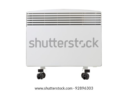 modern radiator that runs on electricity, isolated on white #92896303