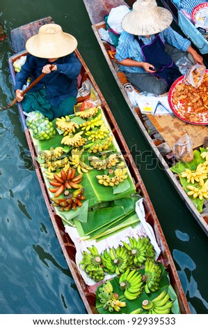 Floating market,Woodenboats,thailand #92939533