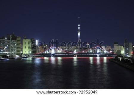 Tokyo Sky tree illumination #92952049