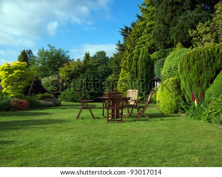 English Garden in late summer #93017014