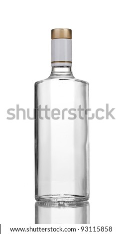 Bottle of vodka isolated on white #93115858