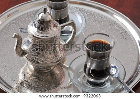 Antique silver Turkish coffee service