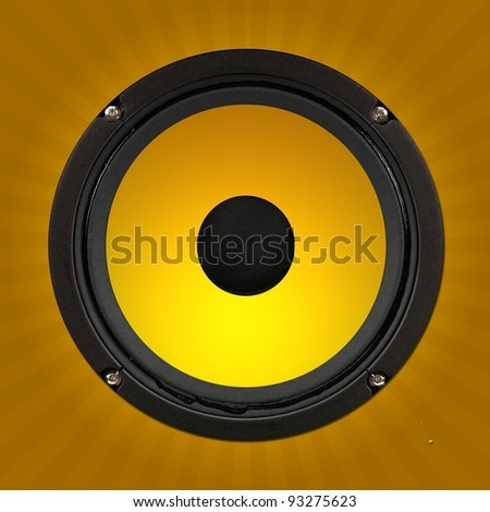 Stero speakers isolated against a solid background #93275623