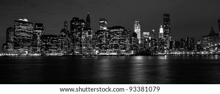 View on New York City at Night #93381079