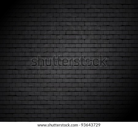 Grunge brick wall. Vector background. #93643729