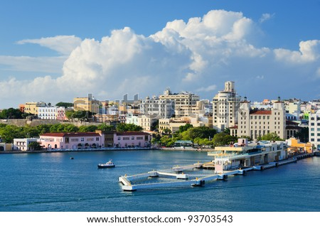 Skyline of San Juan, Puerto Rico Royalty-Free Stock Photo #93703543