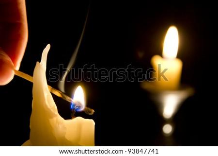 Lighting candles #93847741