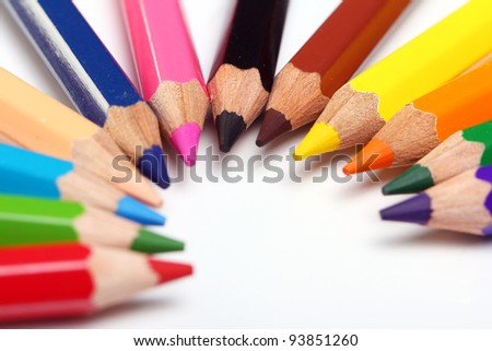 Close up of colorful pencils #93851260