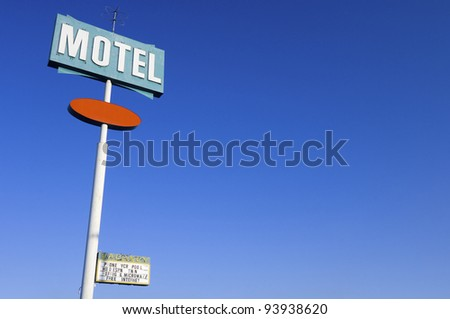 poster green motel with clear and blue sky #93938620