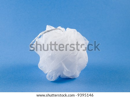 White sponge on blue background #9395146