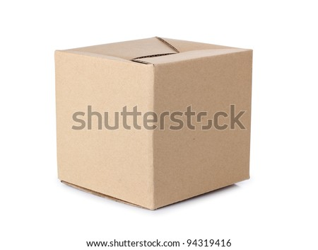 Color photo of a large cardboard box #94319416