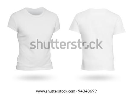 White T-shirt template. Photo-realistic mesh design. #94348699