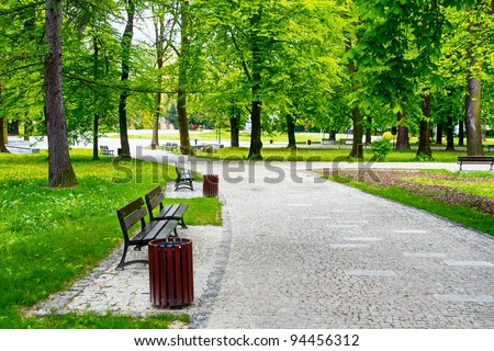 Green city park Royalty-Free Stock Photo #94456312