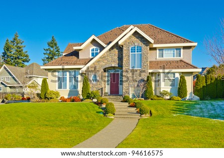 a very neat and colorful home with gorgeous outdoor landscape in suburbs of Vancouver, Canada #94616575