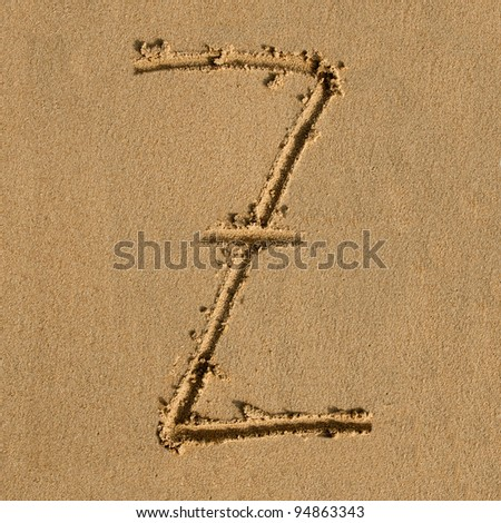English alphabet in the sand #94863343