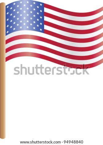 Illustration of the USA flag #94948840