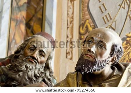 Statue inside the public church of Sagrado Coração de Jesus, dated of 1885, in Sao Paulo, Brazil. #95274550