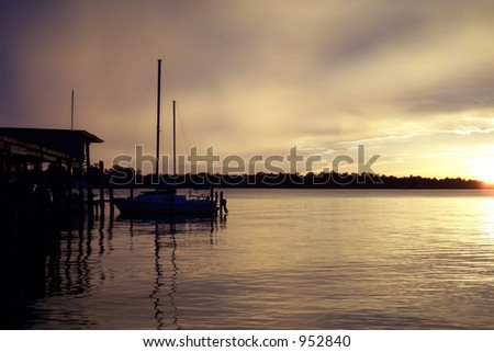 Sailboat on River #952840