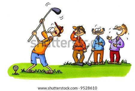 Golf Cartoon Series Number 1