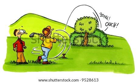 Golf Cartoon Series Number 2