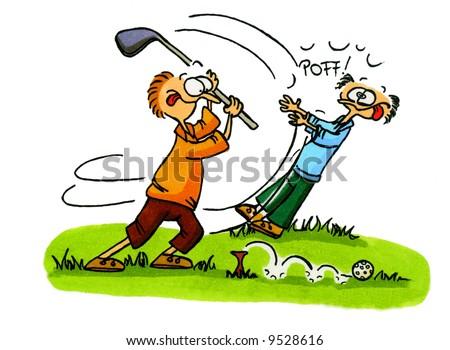 Golf Cartoon Series Number 3