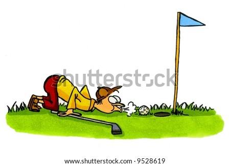 Golf Cartoon Series Number 4