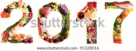 Assortment of Fresh Vegetables and Meats Arranged in 2017 #95328016