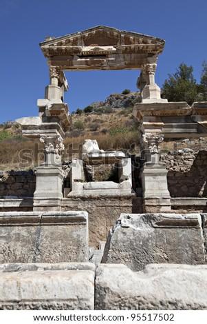 The Fountain of Traianus, Ephesus, Izmir, Turkey #95517502